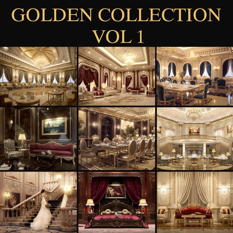 3d scene luxurious rooms