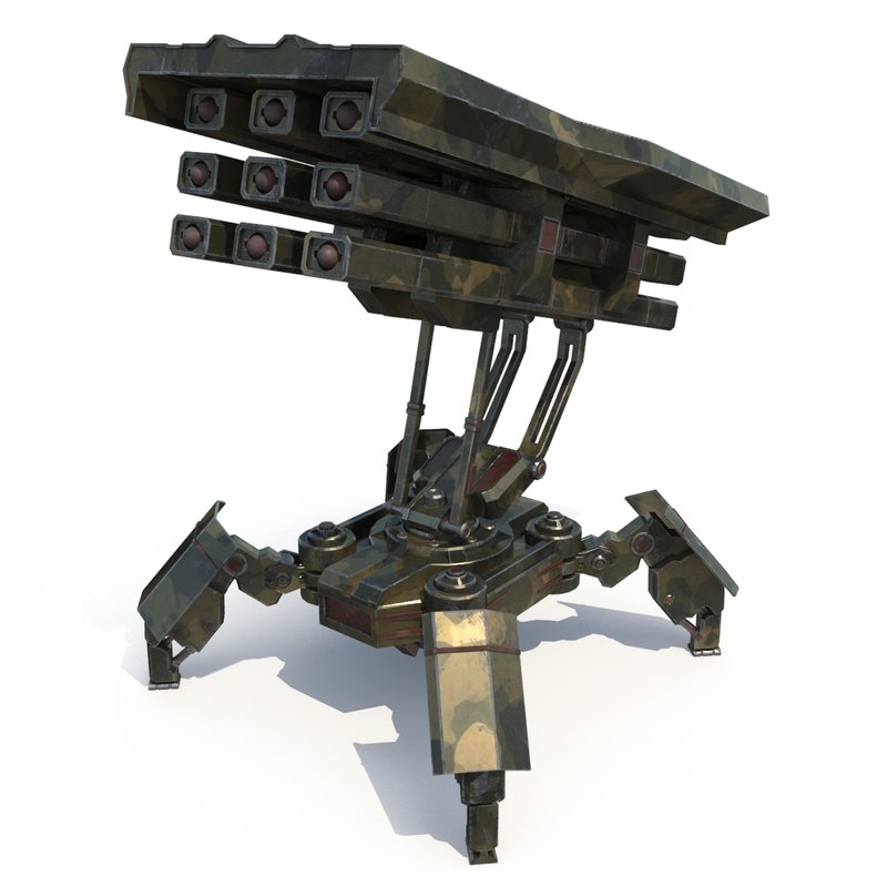 walker rocket launcher 3d model