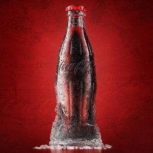 coca cola - 3d max