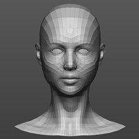Base mesh female head