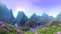 Dreamy Mountain Panorama