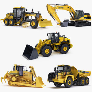 heavy vehicle excavator big 3d model