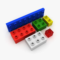 toy bricks 3d max