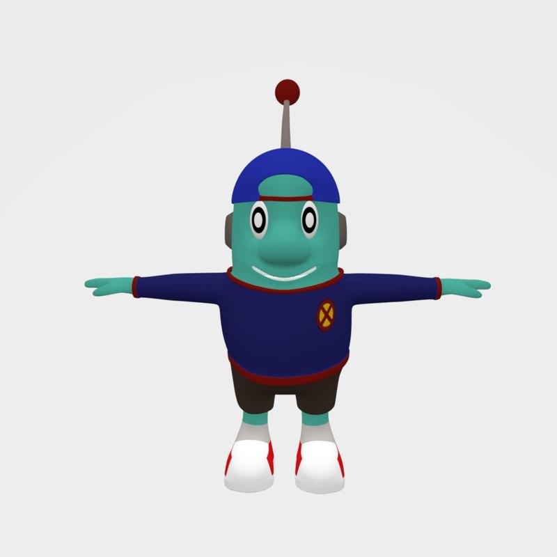 3D cute alien character model