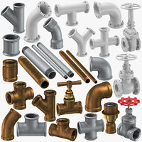 3D model pipe fitting