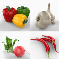 lightwave vegetables pepper garlic