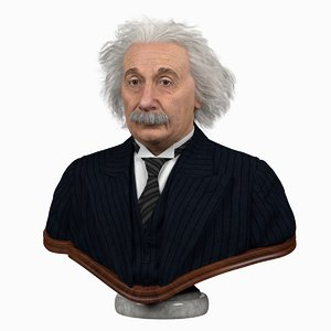 albert einstein 3D model