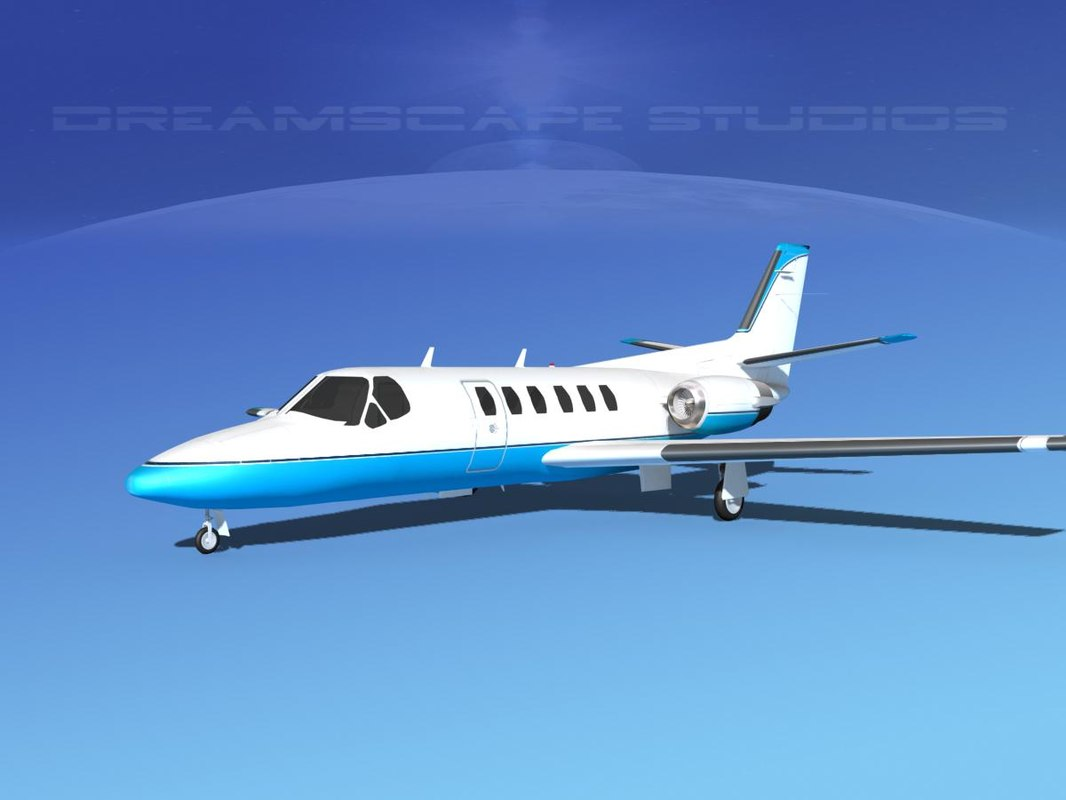 3d model cessna citation ii 550