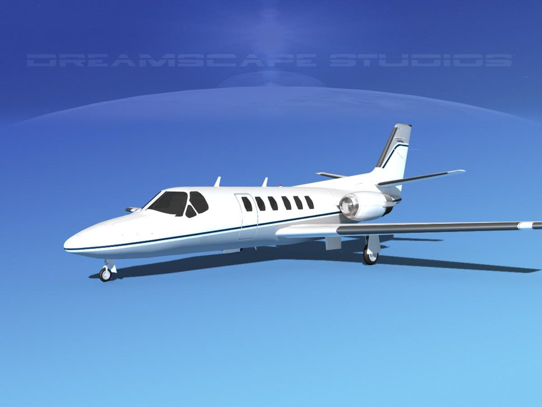 3D model scale citation ii 550