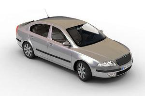 octavia sedan car 3d model