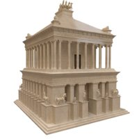 3D mausoleum halicarnassus model