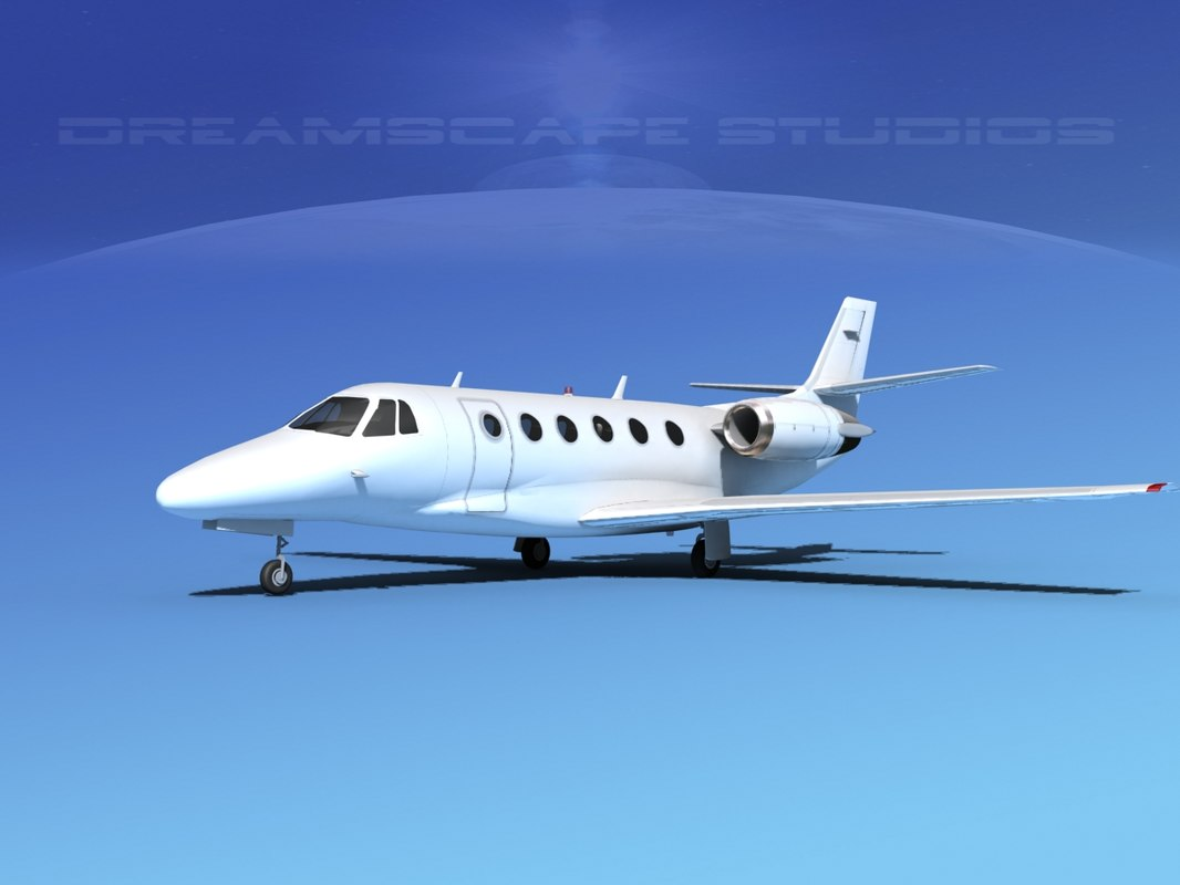 scale cessna citation xls 3d model