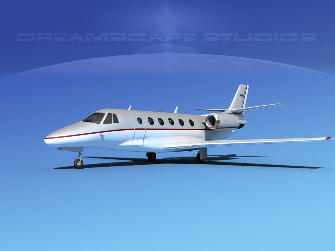 3d model of scale cessna citation xls