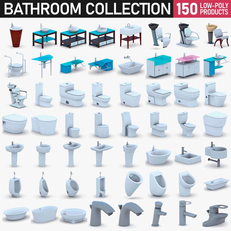 bathroom fixtures - 150 3D