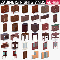 Interior Collection Vol.20 - Cabinets and Nightstands 40 Pack