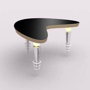 lw futuristic ameba table