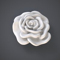 Rose Bloom - 3D Print