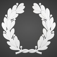 3D decorative laurel wreath printing model