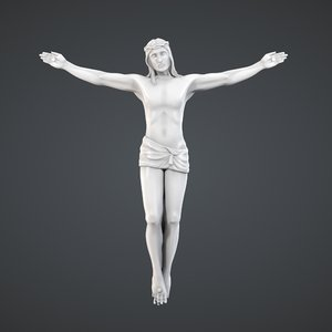 3d obj christ figurine print