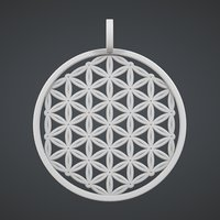 Flower of Life Pendant - 3D Print