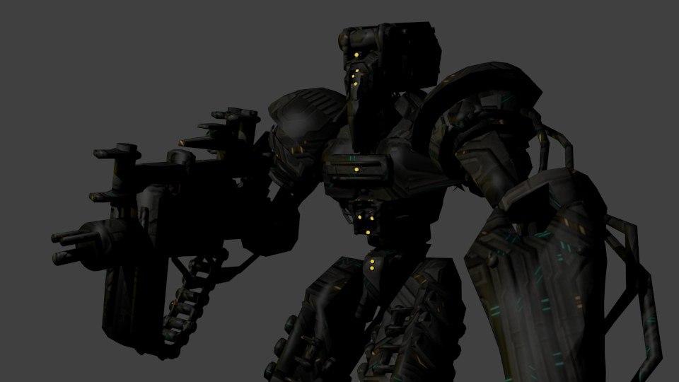 3D model robot monster