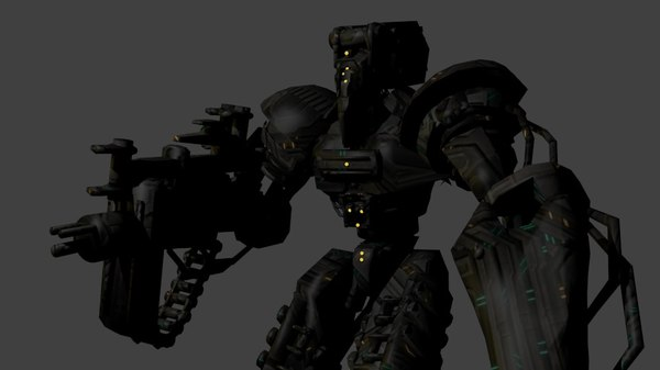 3D model robot monster