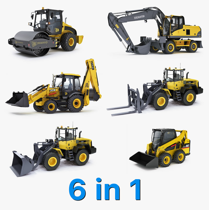 heavy vehicle excavator big 3d max