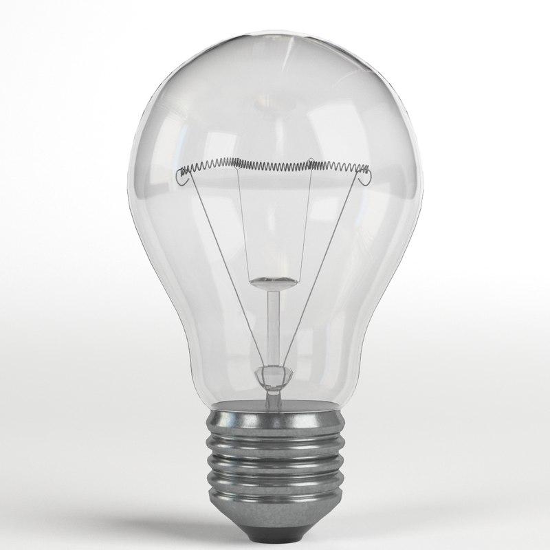 light bulb lamp 2 3d model