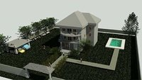 3d design of a home with site design