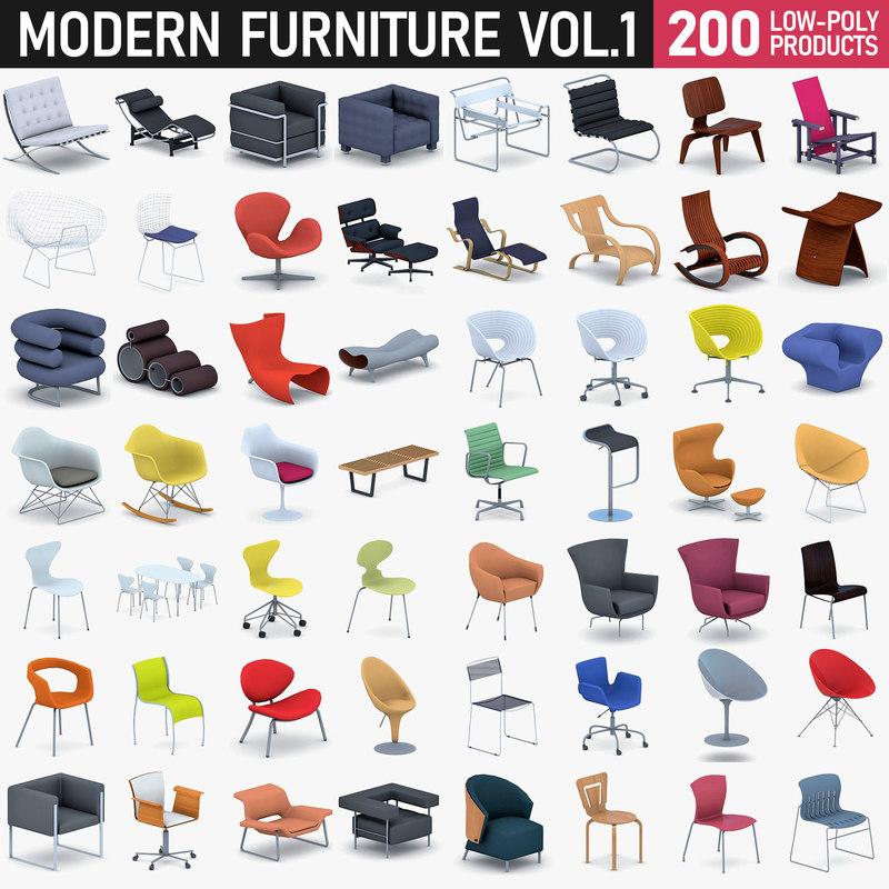 modern - 200 3D model