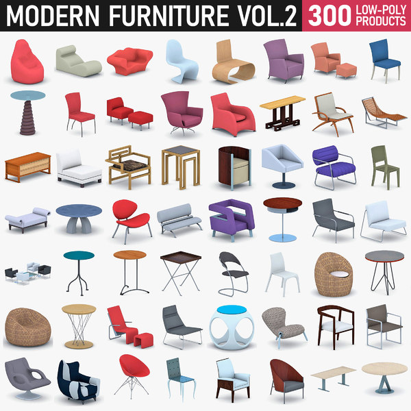 3D modern furniture - 300 model