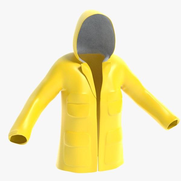 raincoat rain coat 3D