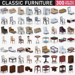 3D classic furniture - 300