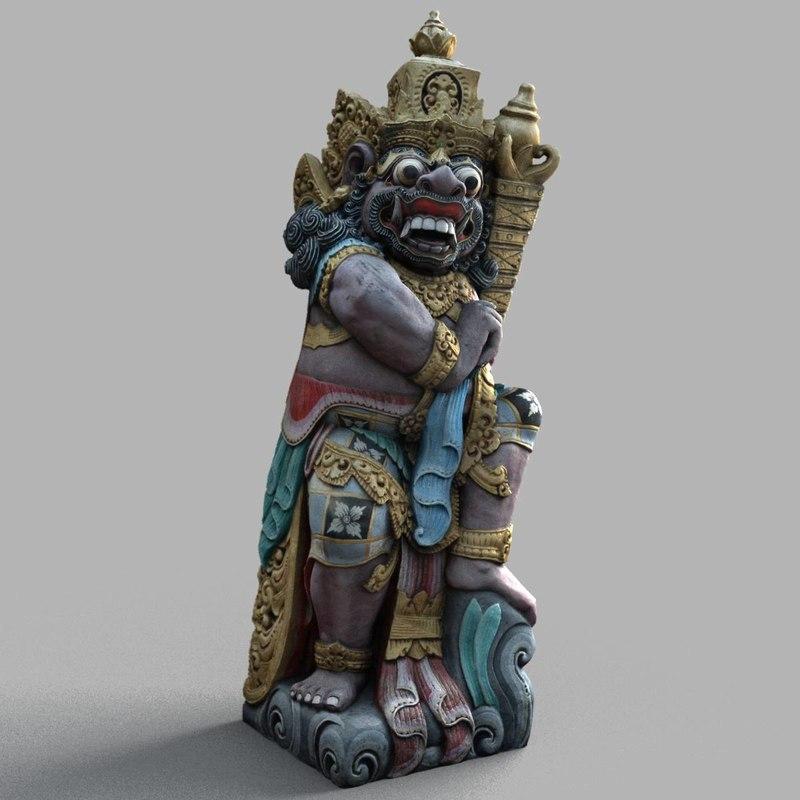bali sculpture 3d model