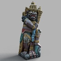 bali sculpture 3d model