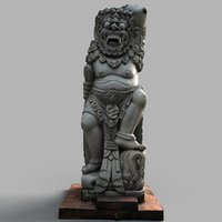 3d model bali sculpture