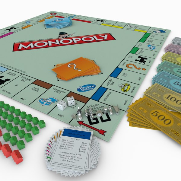 3d monopoly board playing model