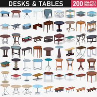 3D desks tables - 200