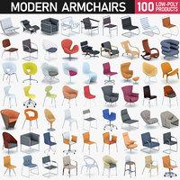 3D modern chairs - 100