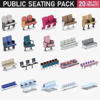 airport seating - 20 model