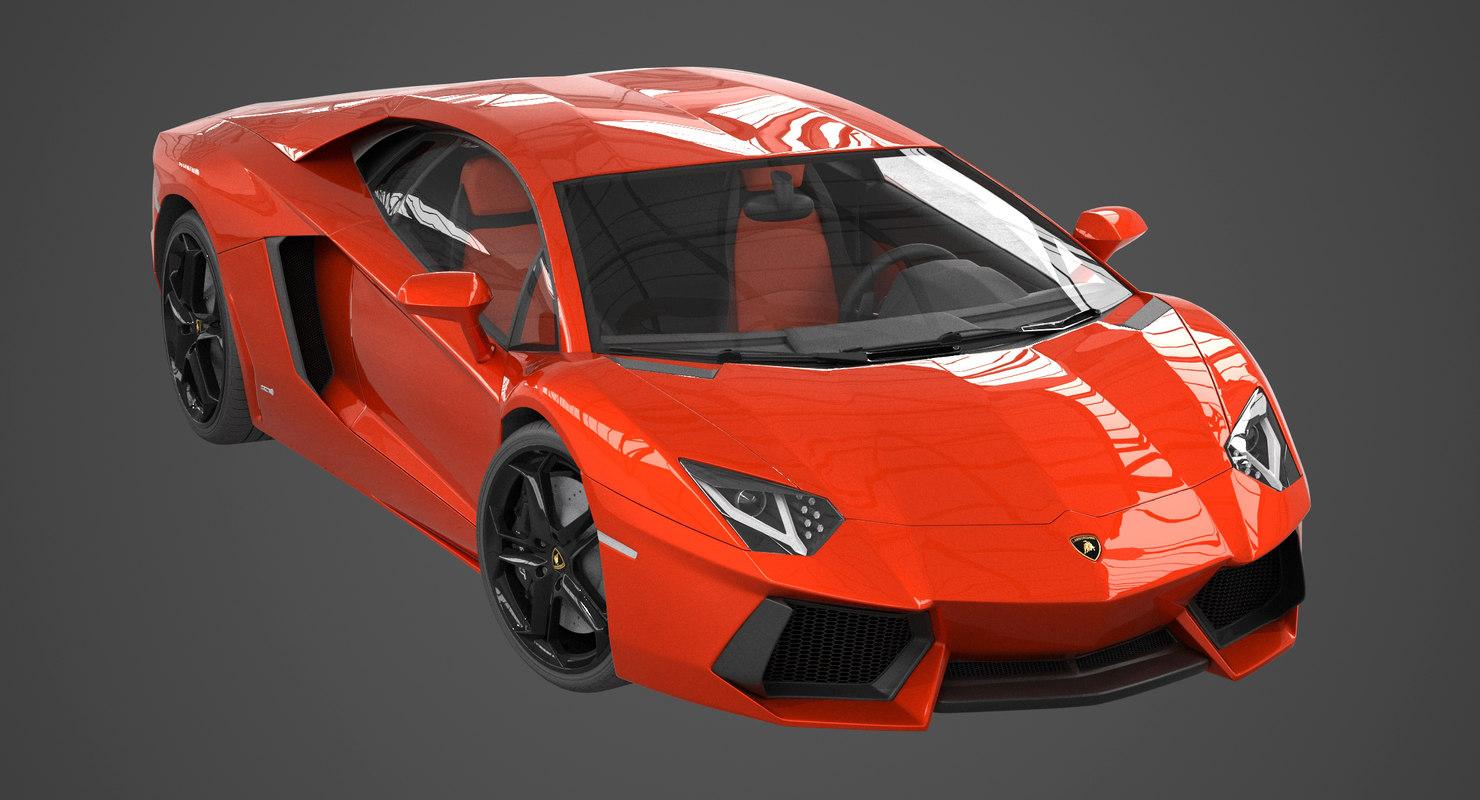 3d Model Lamborghini Aventador Lp700 4
