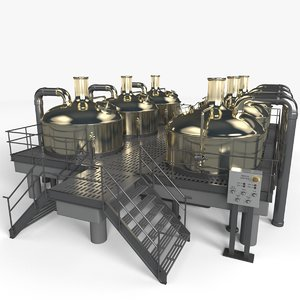 brewery scene 3d max