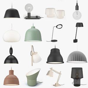 3d model muuto lighting lamps