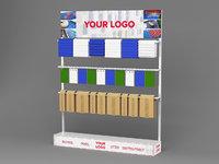 3D display stand conveyor belt model