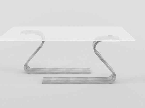 3D model modern table 1