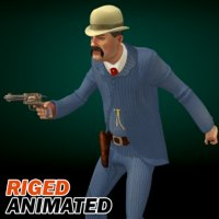 bat masterson man 3D model