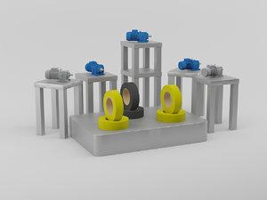 exhibition stands 3D model