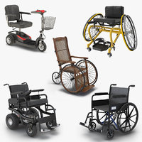 3D wheelchairs 4 model