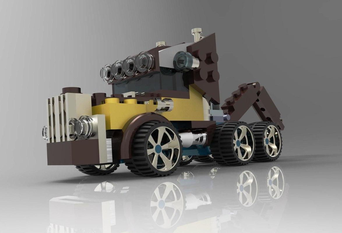 3D lego truck model