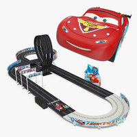 3D toy racing car track